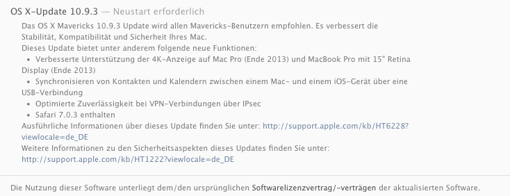 Apple OS X Mavericks Update 10.9.3