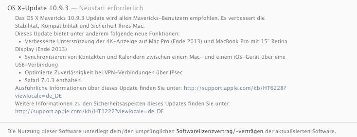 Apple OS X Mavericks Update 10.9.3