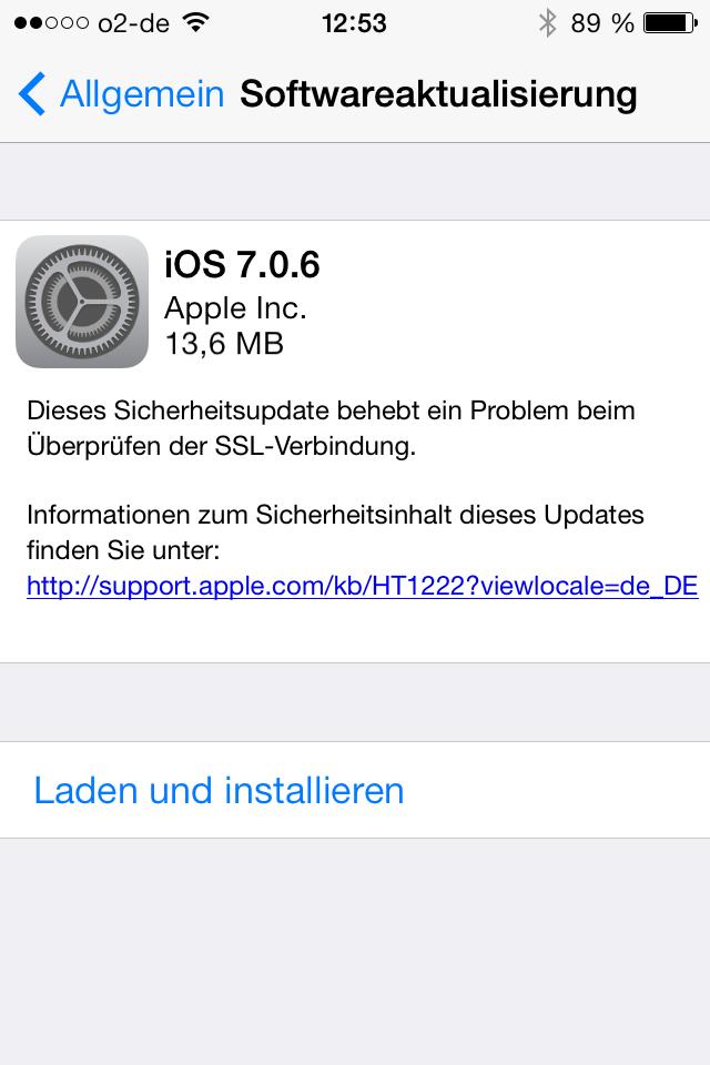 Apple Ios 7 0 6 Update Verf 252 Gbar It Probleml 246 Sung