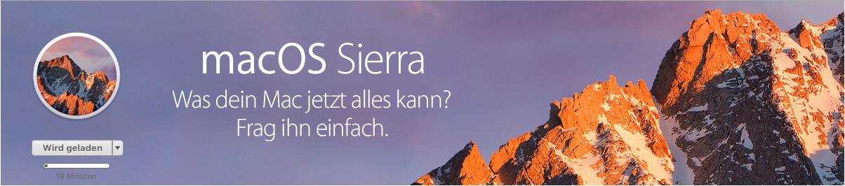 MacOs sierra 10.12 Betriebssystem Apple