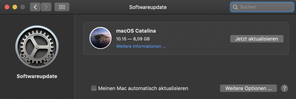 macOS Catalina Version 10.15