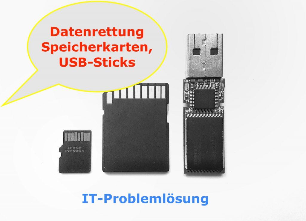 Datenrettung Speicherkarten - USB-Sticks